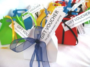 We offer gift vouchers for our training sessions