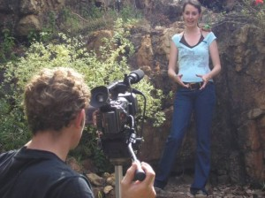"Telana being filmed for ""one matchstick, the movie"""