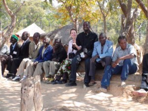 Meeting rural Zambian elders