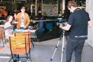 Movie making action, with Telana and Earn in Johannesburg